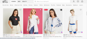styli shop coupon code For Women clothing